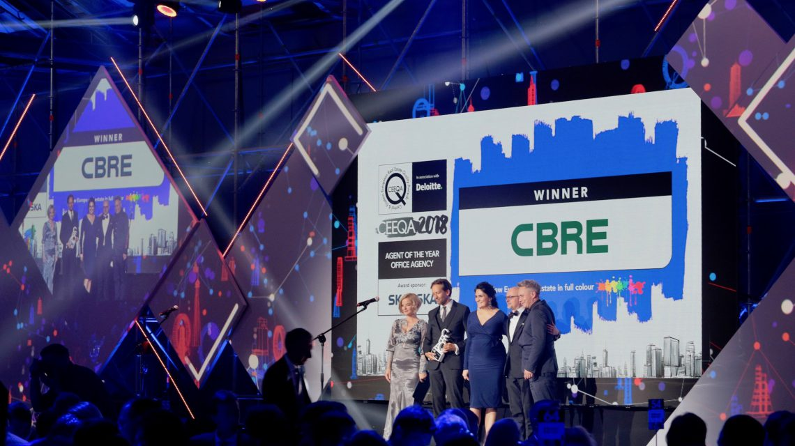 CBRE storms the agent charts with four square